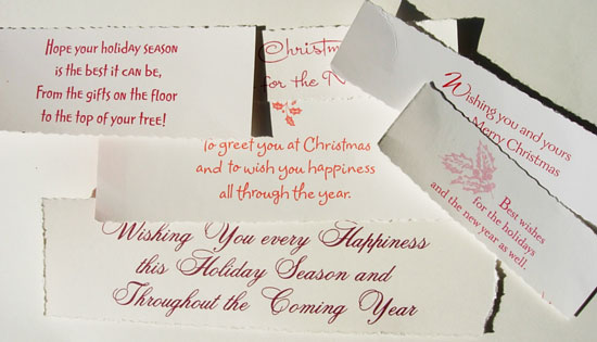 Christmas Greeting Notes