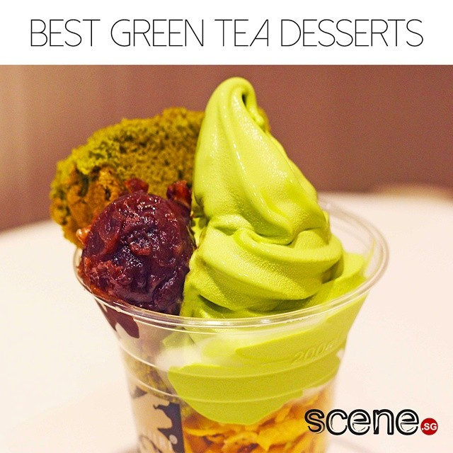 Hungry? Check out our list of the best #greentea #desserts in Singapore on scene.sg! You'll thank us, even if your waistline won't. And calories don't count if no one sees you eating them... right? #guilty #butnotreally