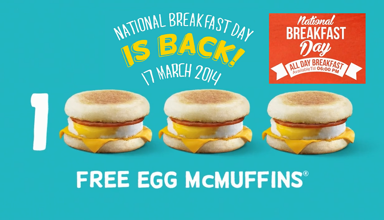 McDonalds Free Breakfast Day