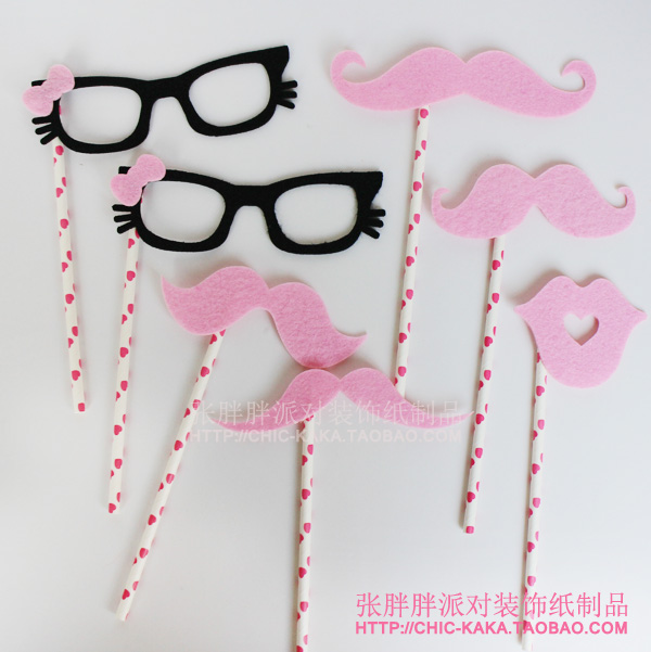 Mustache and Glasses Straws