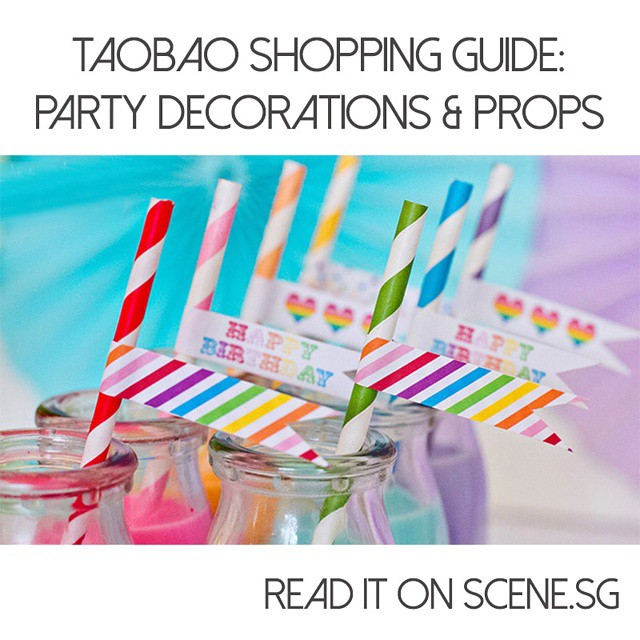 Planning a holiday party? We give you the lowdown on where to buy cute photo booth props, pretty cake stands and Instagram-worthy party straws. The best part? Most of these items are under 5 SGD! #seriously Read the article on scene.sg! #taobaoaddicts #taobaoismagic #taobao