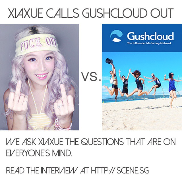We talk to @xiaxue and get the scoop on her @gushcloud_sg blogpost - including why she fell out with Kay Kay, whether anyone has come forward with information on Gushcloud and the original blog post that started it all! Time to get out the popcorn? Read the interview at http://scene.sg