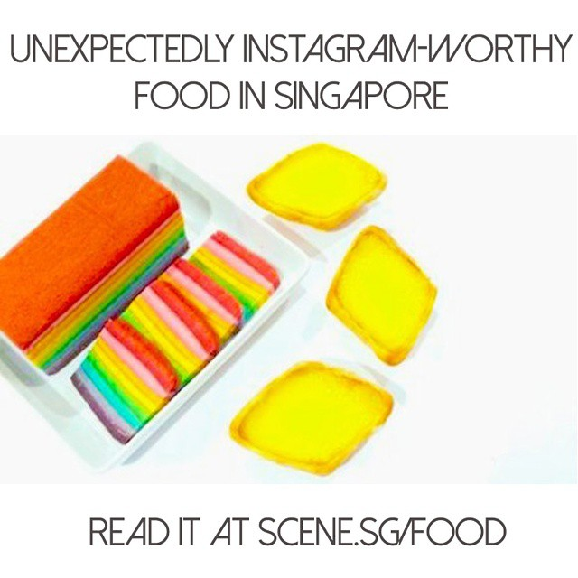 New on scene.sg - Places you never thought would have Instagram-worthy food, including rainbow kueh lapis, psychedelic cakes and more! Read it at http://scene.sg/food #onlyinsingapore