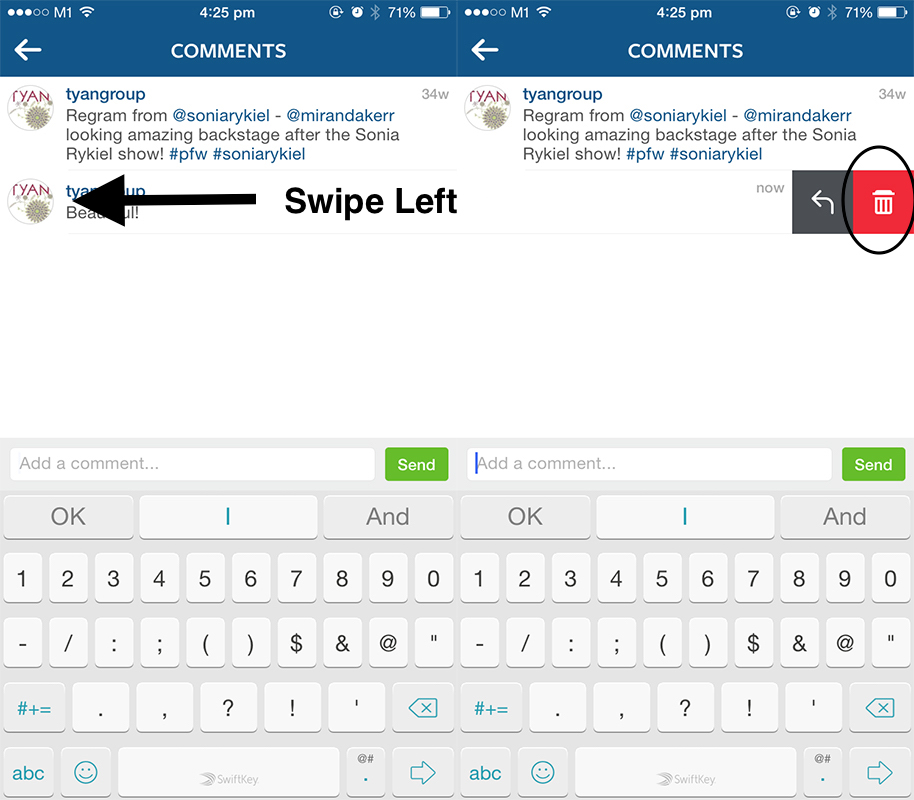 how to find a deleted instagram comment