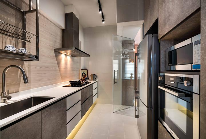 Top 10 HDB Homes That Look Bigger Than They Really Are  : Design Chapterz Kitchen from scene.sg size 720 x 486 jpeg 50kB