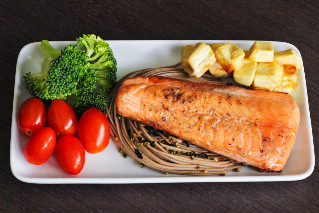Airfryer Salmon and Soba 2