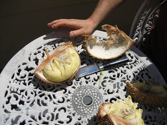 Cut Open Durian
