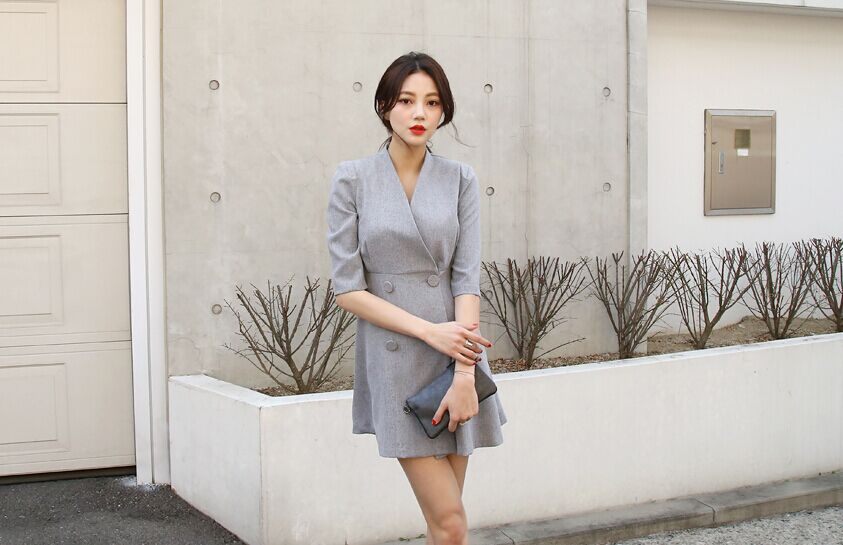 Grey Suit Dress
