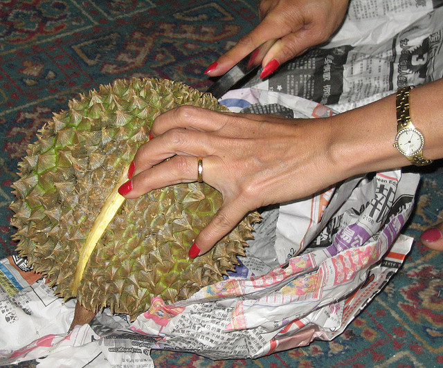 Opening Durian