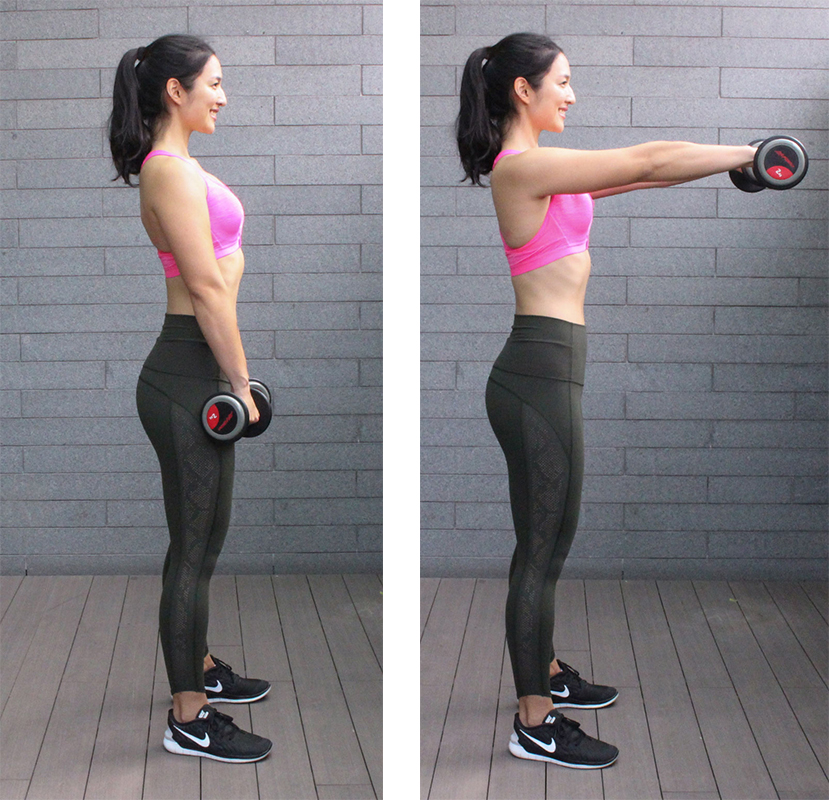 Dumbbell Front Raise 1