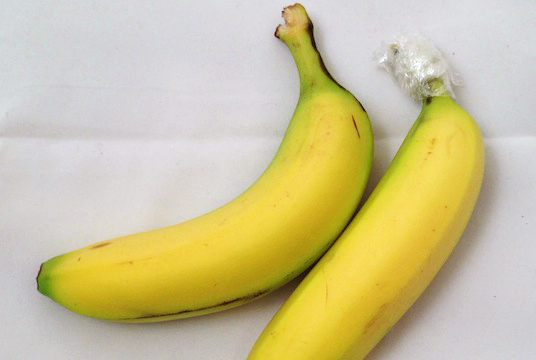 Bananas Wrapped Cling Wrap