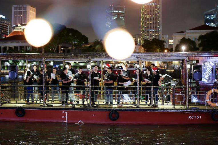Christmas Carollers Singapore River