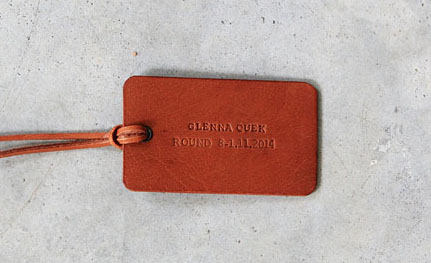 J Artisan Leather Name Tag