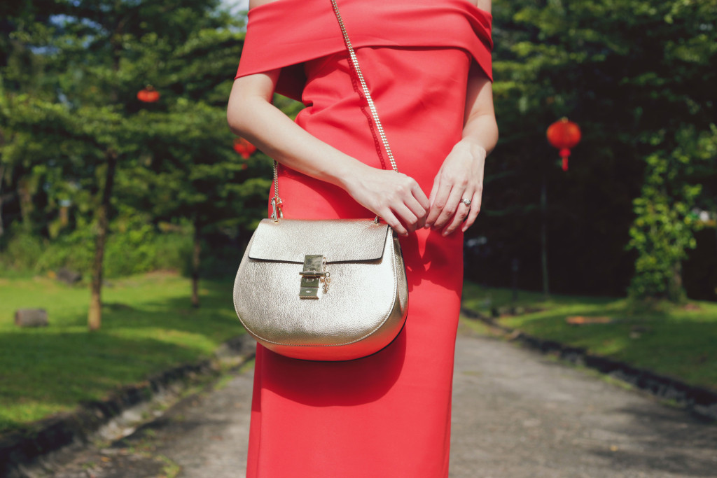 Jessica-Red-Dress-Chloe-Drew-Bag