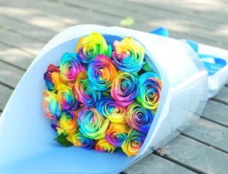Angel Florist Rainbow Bouquet