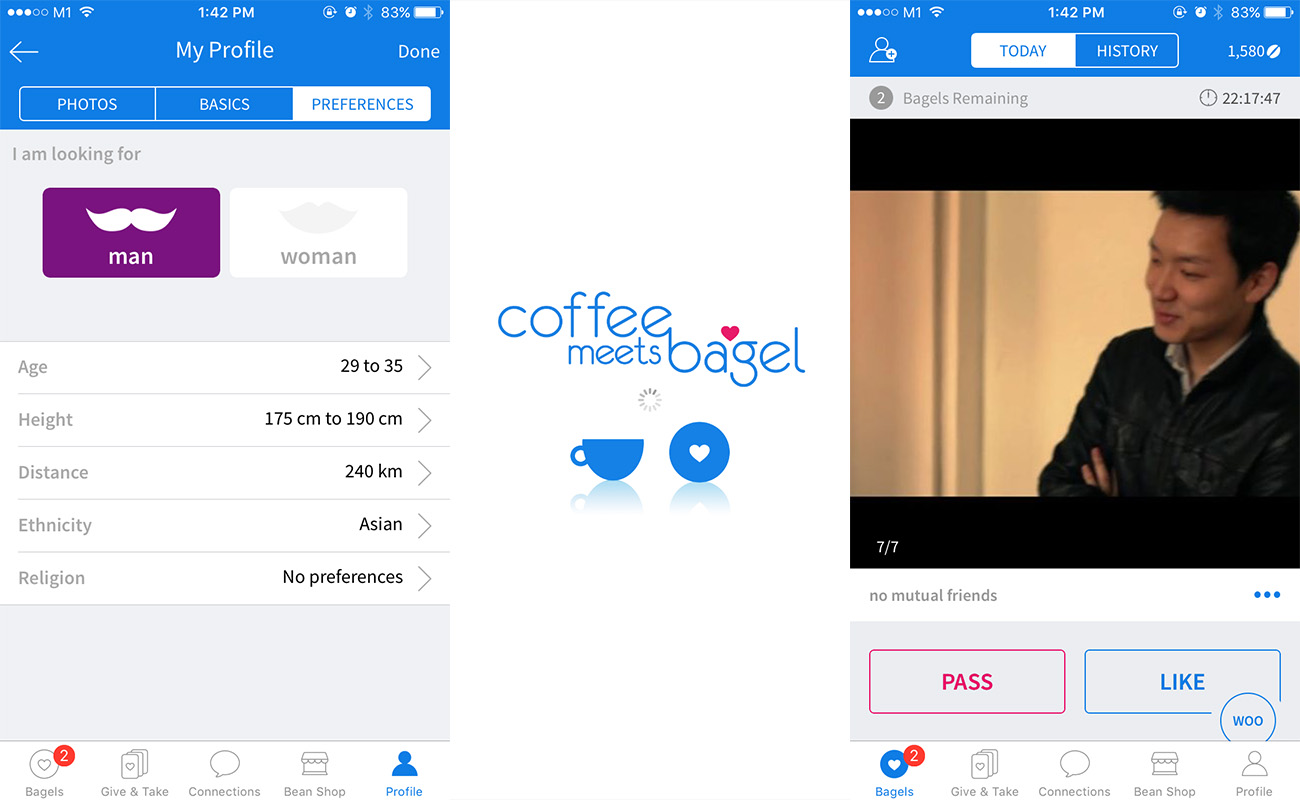 "bagel dating Coffee meets bagel strives to make dating efficient, effective, and painless for even the busiest singles users receive one curated match (a ""bagel"") each day at noon, eliminating the need to sink hours into searching profiles and sending messages."