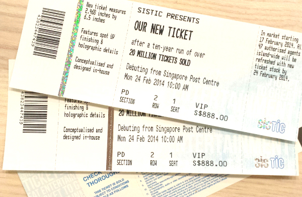 SISTIC Tickets