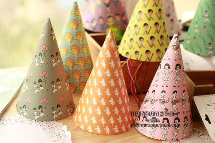 Printed Birthday Party Hats
