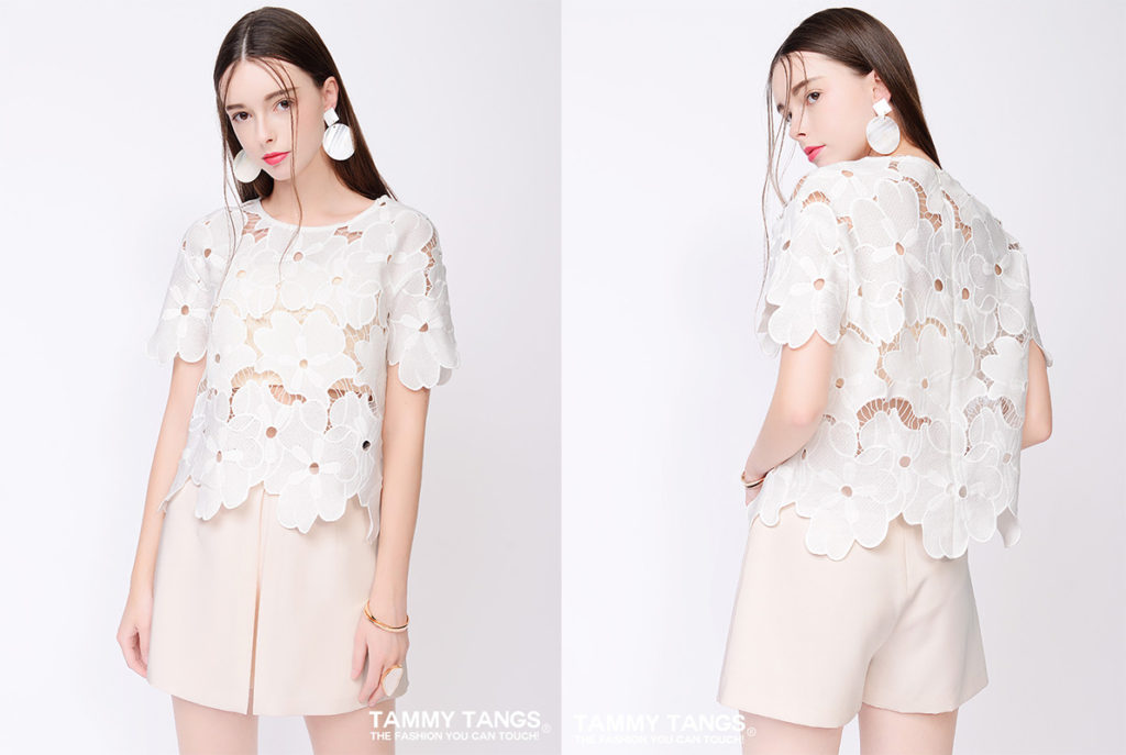 Taobao White Lace Blouse