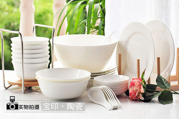 taobao-white-tableware-set