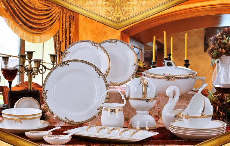 taobao-white-and-gold-china-set
